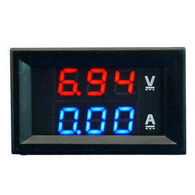 Dual LED DC Digital Display Ammeter Voltmeter LCD Panel Amp Volt 100A 100V SR1G