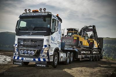 Volvo FH4 2013+ Low Cab Stainless Steel Truck Roof Light Bar + LED x 7