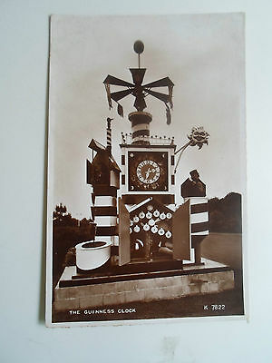 Vintage REAL PHOTO Postcard The Guiness Clock K7822  ~ Valentines