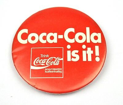 Coca Cola is it! - Coke Germany Pin Button Badge Anstecknadel