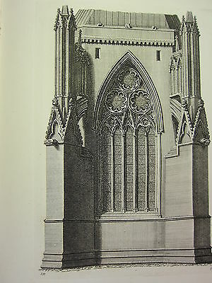 1795 Print Gothic Ornament York Minster ~ Two Heads Over A Stall Chapter-house Antiques