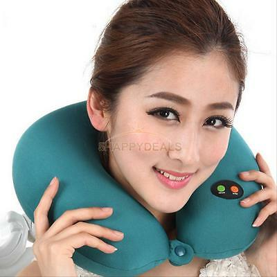 U-shaped Ergonomic Home Travel Neck Head Rest Massage Pillow 6 Massage Mode Soft