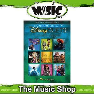 New Contemporary Disney Duets Music Book for Intermediate to Advanced Piano