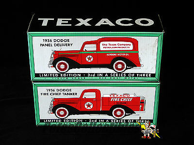 Spec Cast 72060 & 74073 Texaco 1936 Dodge Panel & Tanker Trucks 1:25th Die-Cast