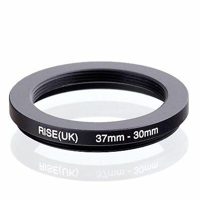 RISE(UK) 37mm-30mm 37-30 mm 37 to 30 Step down Ring Filter Adapter black