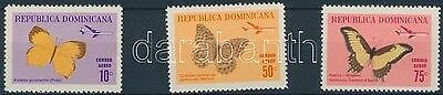 Dominican Republic stamp Butterflies closing values of set Hinged 1966 WS183756