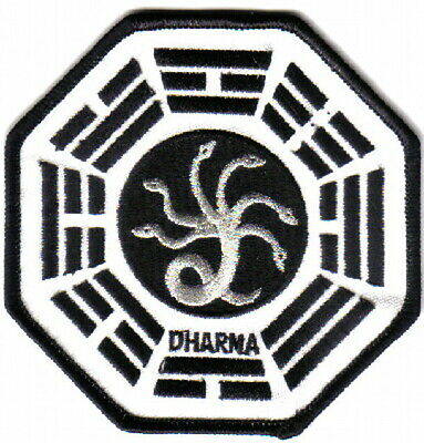 Lost TV Show Dharma Project Hydra Silver Foil Logo Embroidered Patch, NEW UNUSED