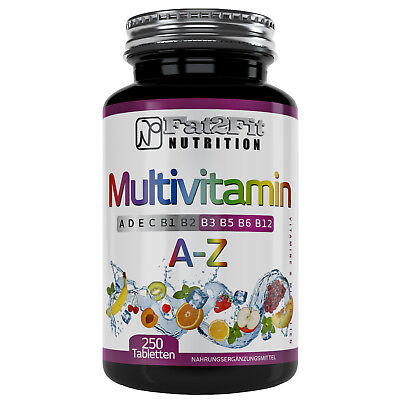 Multivitamin A-Z (50,17€/1kg) 250 Tabletten -100% RDA - Fat2Fit Nutrition