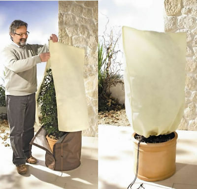 Cold protection 2 x Potted plants bag S Zipper Winter VS 080-060 Thermoplus