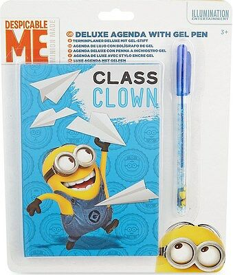 Despicable Me Minion - Deluxe Agenda With Gel Pen School Kids Gift Set - 3573