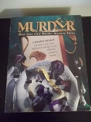 1993 Murder a'la Carte Mystery Dinner Party Game A DEADLY DESIGN