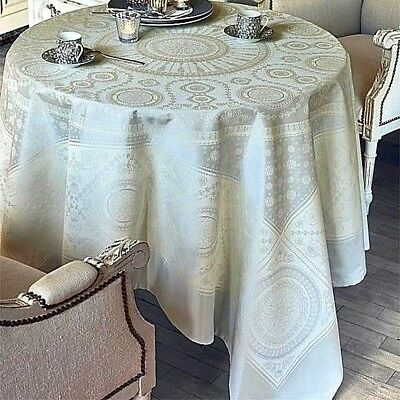 Garnier-Thiebaut Imperatrice French Jacquard Stain-Resistant Tablecloth