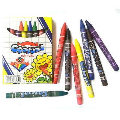 5pcs Value Pack 8 Color Crayon Non-toxic Safe for Kids Drawing Bulk Lots Supply