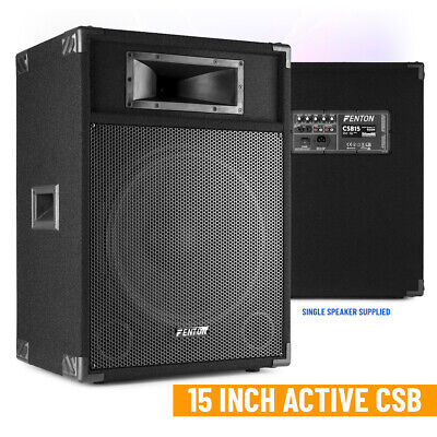 "SkyTec CSB15 PA Speaker Active 15"" Home Karaoke Disco Party 800W Peak"