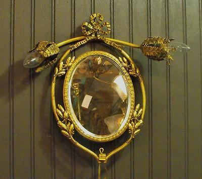 Wonderful Antique Wall Mirror Sconce Type Light Nice!