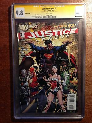 Justice League #1, CGC 9.8, Finch Variant, signed by Jim Lee &David Finch new 52
