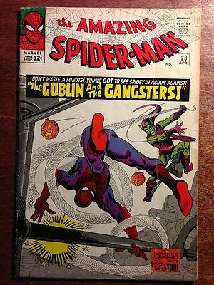 The Amazing Spider-Man #23, first print, F-, 3rd Green Goblin, (1965)