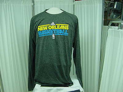 NBA New Orleans Hornets Official Team Issued adidas Long Sleeve shirt Size- LT