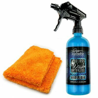 Waterless Wash Kit | High Gloss Carnauba Wax | Car Auto Showroom Cleaning Shine