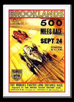 -A3 Size- Booklands 500 Mile Race 1930s - Motor Car Racing Vintage Poster #09