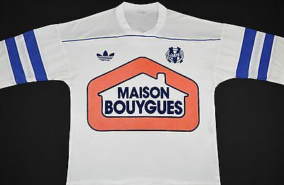 1987-1988 Olympique Marseille Adidas Ventex Home Football Shirt (Size M)