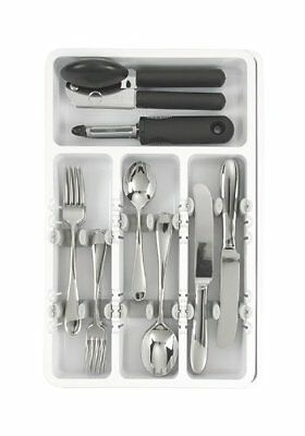 The Best White Expandable Adjustable Flatware/Silverware Drawer Organizer Caddy