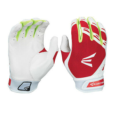 Easton HF7 Hyperskin Women's Fastpitch Batting Gloves - Red/White - Medium