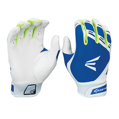Easton HF7 Hyperskin Women's Fastpitch Batting Gloves - Royal/White - Large