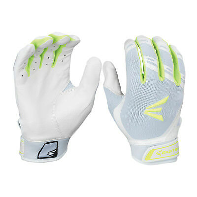Easton HF7 Hyperskin Women's Fastpitch Batting Gloves - White/Optic - Large