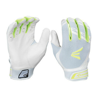 Easton HF7 Hyperskin Women's Fastpitch Batting Gloves - White/Optic - XL