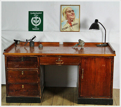 Lost Places Vintage Workbench Watchmaker Glasses And Opticians Work Bench Desk