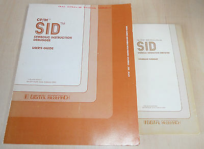 CP/M SID Symbolic Instruction Debugger User's Guide Digital Research Book
