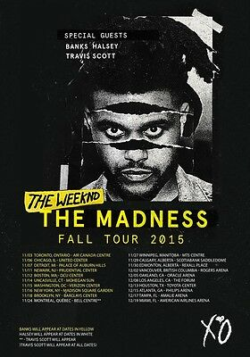 THE WEEKND The Madness Fall Tour 2015 PHOTO Print POSTER Abel Tesfaye Starboy 05