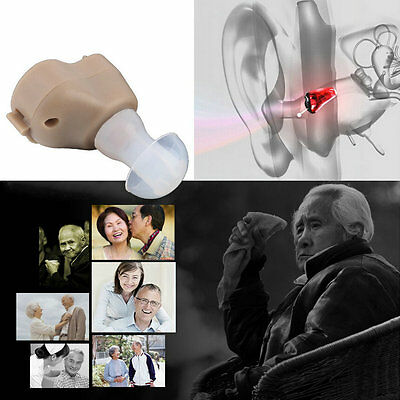 New Small In-Ear Voice Sound Amplifier Adjustable Tone Mini Hearing Ear Aid LO