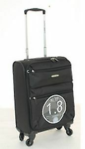 NEW Australian Luggage Co SO LITE 3.0 Carry On Softsided Spinner Luggage - Black