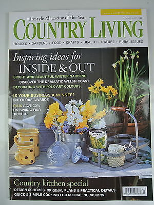Country Living Magazine. February, 2007. Issue No. 254. Inspiring Ideas inside &