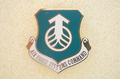 US USA USAF Air Force Systems Command Military Hat Lapel Pin