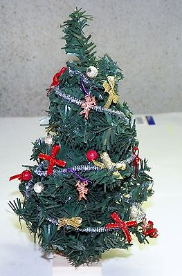 Dollhouse Miniatures Christmas Tree with  Colorful Decorations