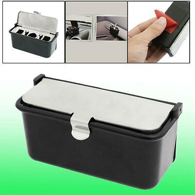 Rectangle Metal Lid Portable Smokeless Car Cigarette Ashtray Holder