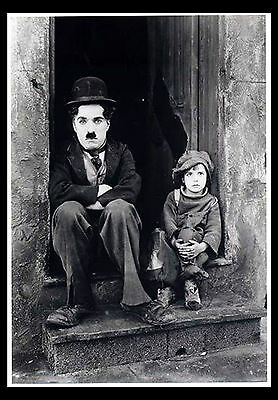 -A3 Size Wall Poster Art Deco - Charlie Chaplin Classic Tramp Print -#02