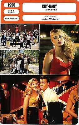 Fiche Cinéma. Movie Card. Cry-Baby (USA) 1990 John Waters