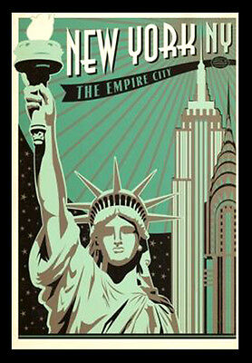 NEW YORK EMPIRE STATE A3 vintage retro travel /& railways posters print #3