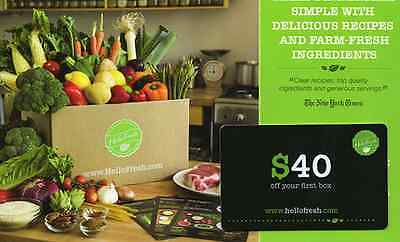 Hellofresh $40 off first order ($29 total) - new customers only -Hello Fresh $29