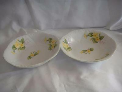 Vintage Shelley England Primrose Fine Bone China Set of 2 Fruit Bowls