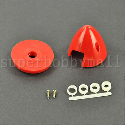 1x Haoye 2Blades Plastic Spinner 3.25inch/83mm For RC Gas Airplane Red/White