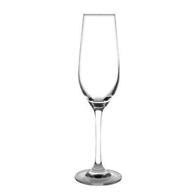 6x Olympia Chime Champagne Flutes 225ml Cocktail Wine Beer Glasses Barware