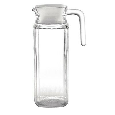 6x Olympia Ribbed Glass Jugs 1Ltr Cocktail Mug Cup Creamer Pitcher Restaurant