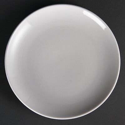 12x Olympia Whiteware Coupe Plates 230mm Serving Tableware Restaurant Crockery