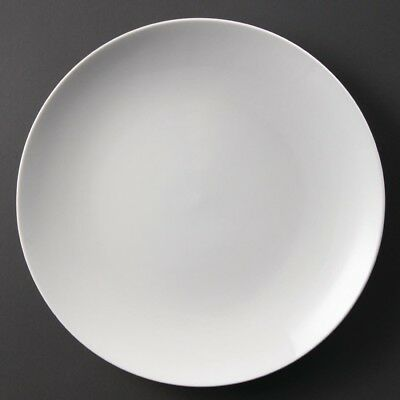 6x Olympia Whiteware Coupe Plates 310mm Serving Tableware Restaurant Crockery