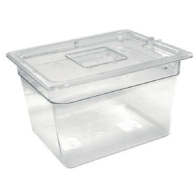 Vogue Polycarbonate 1/2 Gastronorm Container 200mm Clear Kitchen Food Storage